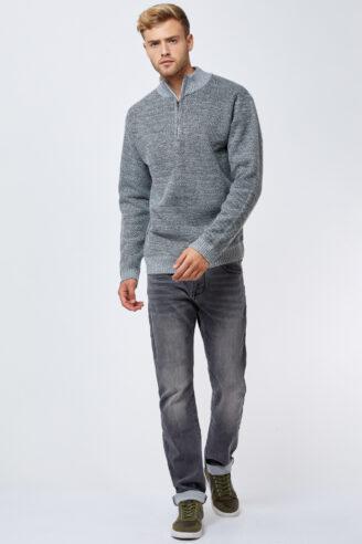 ג'ינס אפור מעוצב